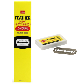 Feather New Hi Stainless Platinum Double Edges Blades